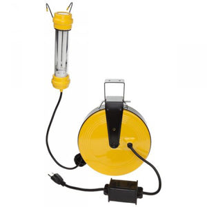 BAYCO 50' OSHA Compliant FluorescentWork Light on Reel BYSL-827