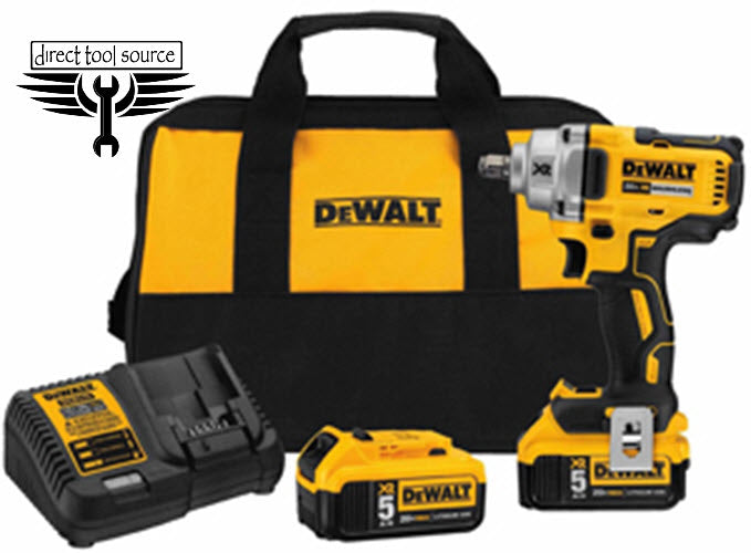 "DEWALT 20V MAX 1/2"" Compact HT Impact Wrench Kit DWDCF894HP2 - Direct Tool Source"