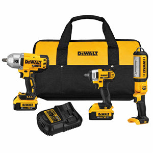 "DEWALT 20V HPDR 1/2"" and 3/8"" ImpactKit with Flood Light DWDCK398HM2"