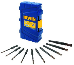 IRWIN 10 Pc Impact Turbomax DrillBit Set HA1881324