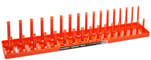 "HANSEN GLOBAL  INC. 1/2"" Dr. Orange Metric Deep &Regular Socket Holders HR1206"
