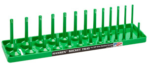 "HANSEN GLOBAL  INC. 3/8"" Dr. Green SAE Deep &Regular Socket Holders HR3803"