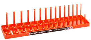 "HANSEN GLOBAL  INC. 3/8"" Dr. Orange Metric Deep &Regular Socket Holders HR3806"