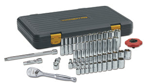 "GEARWRENCH 51-Pc 1/4"" Drive SAE/Metric 6pt Standard & Deep Socket Set KD80300P"