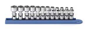 GEARWRENCH 12 Piece 1/4 Flex 6 Point Metric Socket Set KD80311