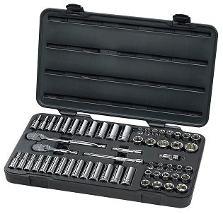 GEARWRENCH 57 Piece 3/8 Drive 6 PointSocket Set KD80550