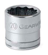 "GEARWRENCH 8MM 12 Point Standard LengthSocket 1/2"" Drive KD80805"