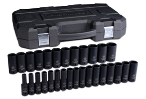 "GEARWRENCH 29 Pc. 1/2"" Drive 6 PointMetric Deep Impact Socket Set KD84935N"