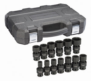 "GEARWRENCH 13 Pc. 1/2"" Drive 6 point SAEUniversal Impact Socket Set KD84938N"