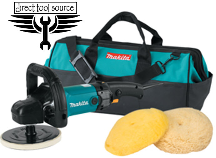 "Makita 7"" Pro Variable Electric Polisher and Sander Kit 9237CX3"