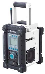 MAKITA 18-Volt FM/AM Job Site Radio MKBMR100W