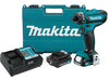 "MAKITA 12V Max CXT Li-Ion Cordless 1/4"" Hex Driver-Drill Kit MKFD06R1 - Direct Tool Source"