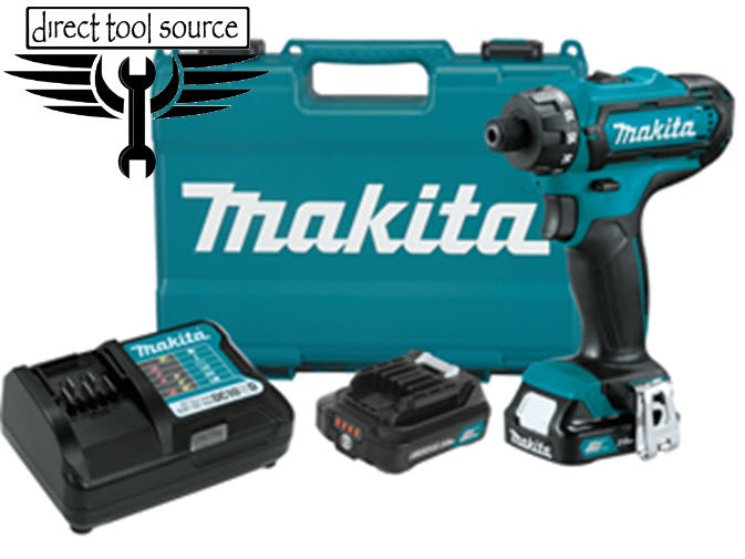 "Makita 12V Max CXT Li-Ion Cordless 1/4"" Hex Driver-Drill Kit FD06R1 - Direct Tool Source"