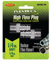 "LEGACY High Flow Plug 1/4"" Body 1/4""MNPT 2-Pack Flexzilla?? Pro MTA53440FZ-2PK - Direct Tool Source"