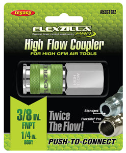 "LEGACY High Flow Coupler 1/4"" Body3/8"" FNPT Flexzilla?? Pro MTA53616FZ - Direct Tool Source"