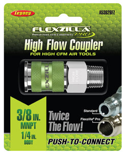 "LEGACY High Flow Coupler 1/4"" Body3/8"" MNPT Flexzilla?? Pro MTA53626FZ - Direct Tool Source"