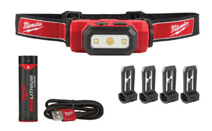 MILWAUKEE 475 Lumen USB RechargeableHard Hat Headlamp MWK2111-21