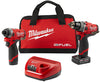 "MILWAUKEE M12 FUELŸ?? 2-Tool Combo Kit:1/2"" Drill Driver and 1/4"" Hex MWK2596-22"
