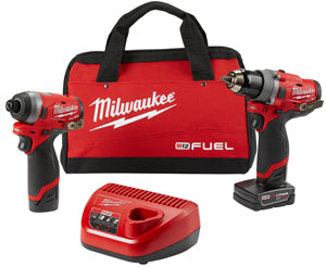 "MILWAUKEE M12 FUELŸ?? 2-Tool Combo Kit:1/2"" Drill Driver and 1/4"" Hex MWK2596-22 - Direct Tool Source"