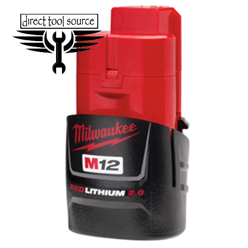 MILWAUKEE M12 2 Amp Battery 48-11-2420 - Direct Tool Source