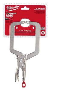 "MILWAUKEE 9"" C Clamp Jaw Locking Pliers MWK48-22-3533 - Direct Tool Source"