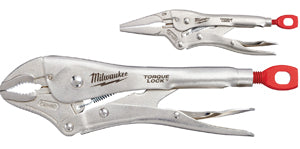 "MILWAUKEE 2Pc - 6"" Long Nose & 10""Curved Jaw Locking Pliers Set MWK48-22-3602 - Direct Tool Source"