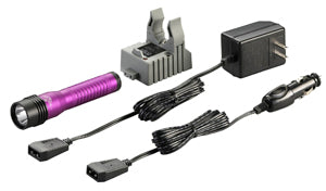 STREAMLIGHT Purple Strion HL AC/DC withAC/DC Single Charger 500 Lumen SG74773