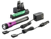 STREAMLIGHT Purple DS Stinger LED HL AC/DCwith Piggyback Charger 800 Lum SG75492 - Direct Tool Source