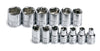 "SK HAND TOOL 13 Piece 6 Point ShallowSocket Set 1/4"" Drive SK1313 - Direct Tool Source"