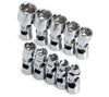 "SK HAND TOOL 10 Piece 6 Point Flex ChromeSocket Set 1/4"" Drive SK1335"