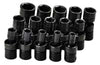SK HAND TOOL 15 Piece 6 Point Swivel MetricImpact Socket Set SK33350
