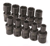 SK HAND TOOL 10 Piece 6 Point Swivel MetricImpact Socket Set SK33351