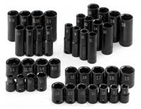 SK HAND TOOL 40 Piece 6 Point FractionalMetric Impact Socket Super Set SK4090