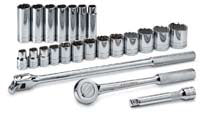 "SK HAND TOOL 23 Piece 12 Point FractionalSocket Set 1/2"" Drive SK4123"