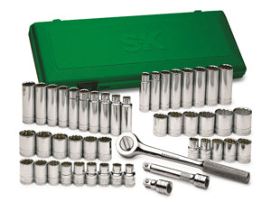 "SK HAND TOOL 47 Piece 6 Point Socket SuperSet 1/2"" Drive SK4147-6"