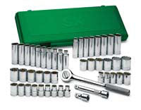 "SK HAND TOOL 47 Piece 12 Point Socket SuperSet 1/2"" Drive SK4147"