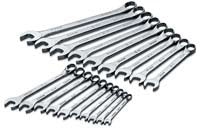 SK HAND TOOL 19 Piece 12 Point SuperKromeMetric Combination Wrench Set SK86224