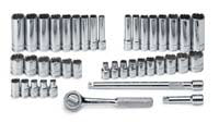 "SK HAND TOOL 41 Piece 12 Point FractionalMetric Socket Set 1/4"" Drive SK91844-12"