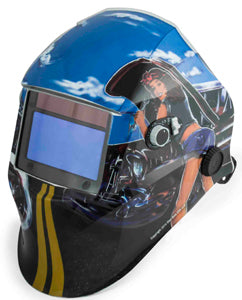 SHOP IRON Biker Girls Auto DarkeningWelding Helmet SO45005