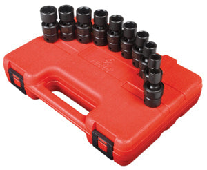 "SUNEX TOOL 10 Piece 3/8"" Drive SwivelImpact Socket Set 10-19MM SU3657"