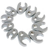 SUNEX TOOL 10 Piece Metric FlarenutStyle Crowsfoot Wrench Set SU9710M - Direct Tool Source