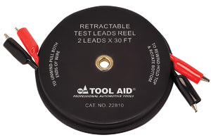 S & G TOOL AID Retractable Test Leads Reel-2Leads x 30' TA22810