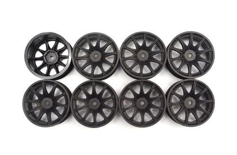 Speed Mind RS Racing Wheels 24mm Black '0' Offset (8 Pieces)