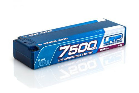 LRP 7500 - TC Stock Spec - 110C/55C - 7.4V LiPo - 1/10 Competition Car Line Hardcase