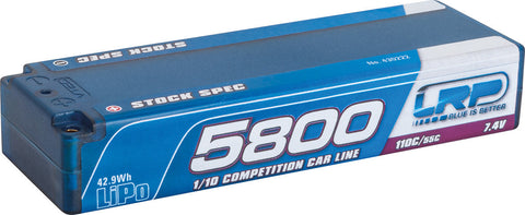 LRP 5800 - TC Stock Spec - 110C/55C - 7.4V LiPo - 1/10 Competition Car Line Hardcase