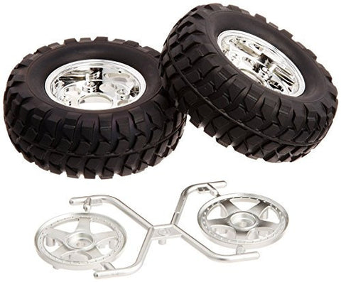 Tamiya Rock Block Tires w/2pc 5-Spoke Wheels CC-01 (2 pieces)