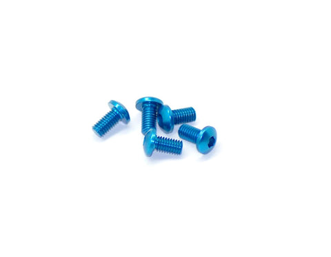 Arrowmax Aluminum Allen Screws Roundhead M3x6 Blue - 7075 (5 Pieces)