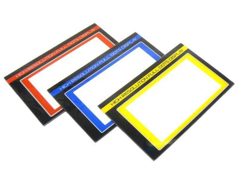 Sanwa LCD Color Panels for M12, M12S, & M12S-RS (Red, Blue, and Yellow)