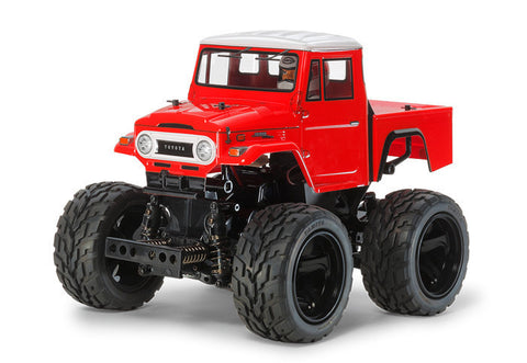 Tamiya 1/12 Toyota Land Cruiser 40 Pick Up - Red Painted Body (GF-01 chassis) w/ ESC