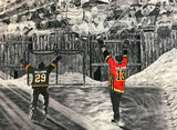 "FATHER/COACH & SON/DAUGHTER ""The Dream Begins Here"" PERSONALIZED Hockey Artwork"